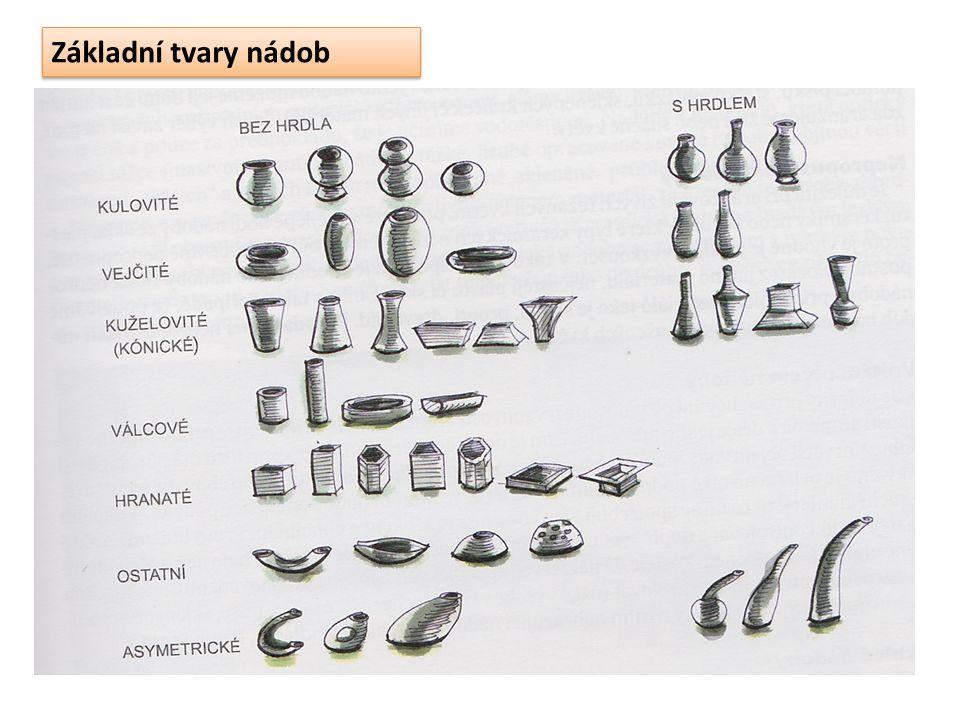 Základní tvary nádob