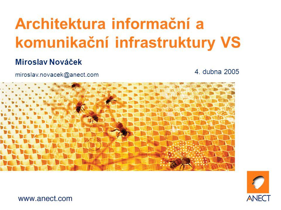 2 Komunikační potřeby organizací veřejné správy (OVS) komunikace mezi vzdálenými pracovišti v rámci jedné organizace (přístup k centrálním informačním zdrojům a aplikacím) komunikace mezi organizacemi navzájem (přístup i k datovým zdrojům nebo aplikacím jiné organizace – sdílení registrů) přístup k vnějším zdrojům (Internet, EuroDomain…)