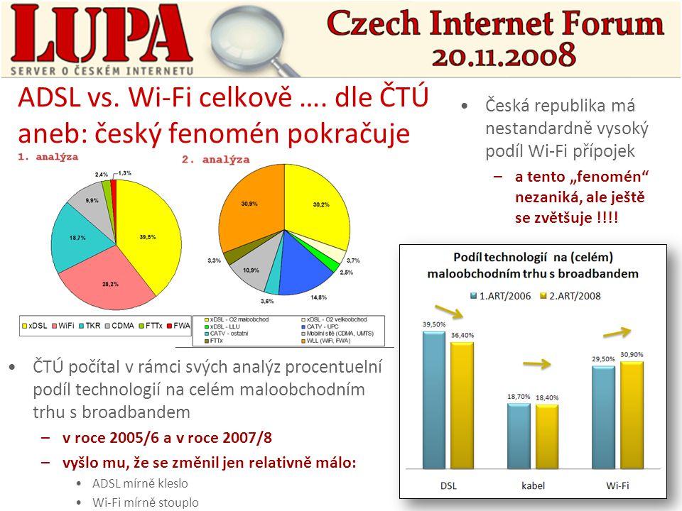 ADSL vs. Wi-Fi celkově ….