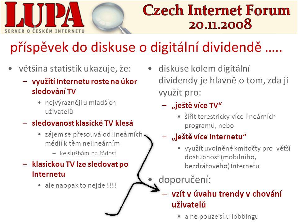 příspěvek do diskuse o digitální dividendě …..