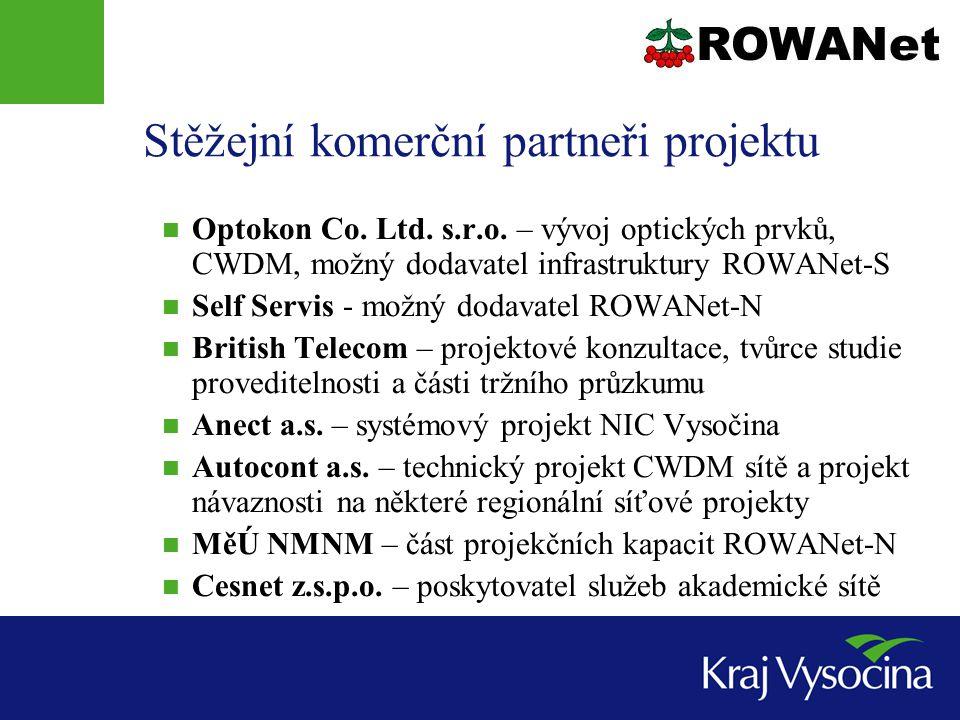 Stěžejní komerční partneři projektu Optokon Co. Ltd.