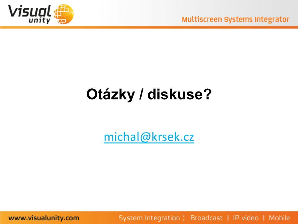 Otázky / diskuse michal@krsek.cz