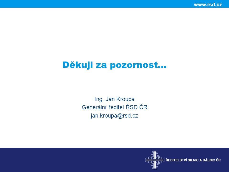 www.rsd.cz Děkuji za pozornost… Ing. Jan Kroupa Generální ředitel ŘSD ČR jan.kroupa@rsd.cz
