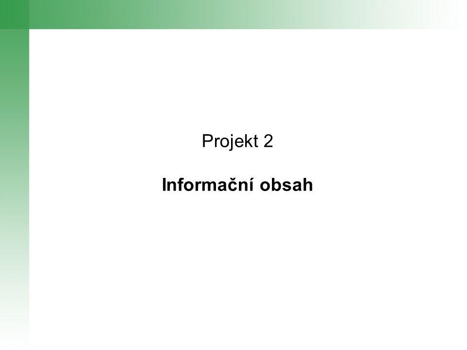 Projekt 2 Informační obsah