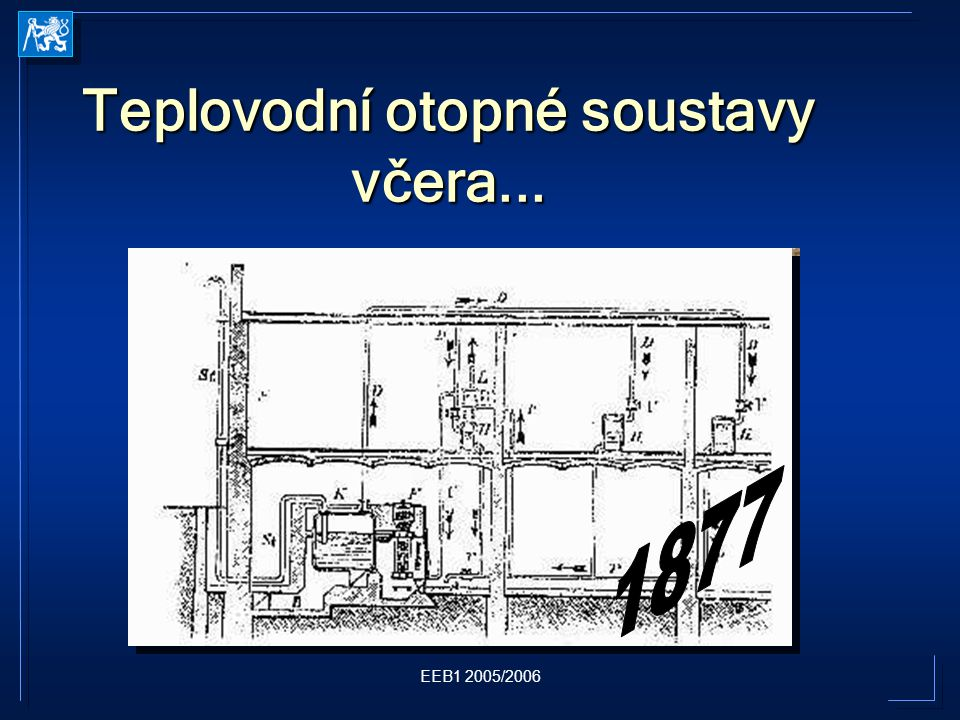 EEB1 2005/2006 Teplovodní otopné soustavy včera...