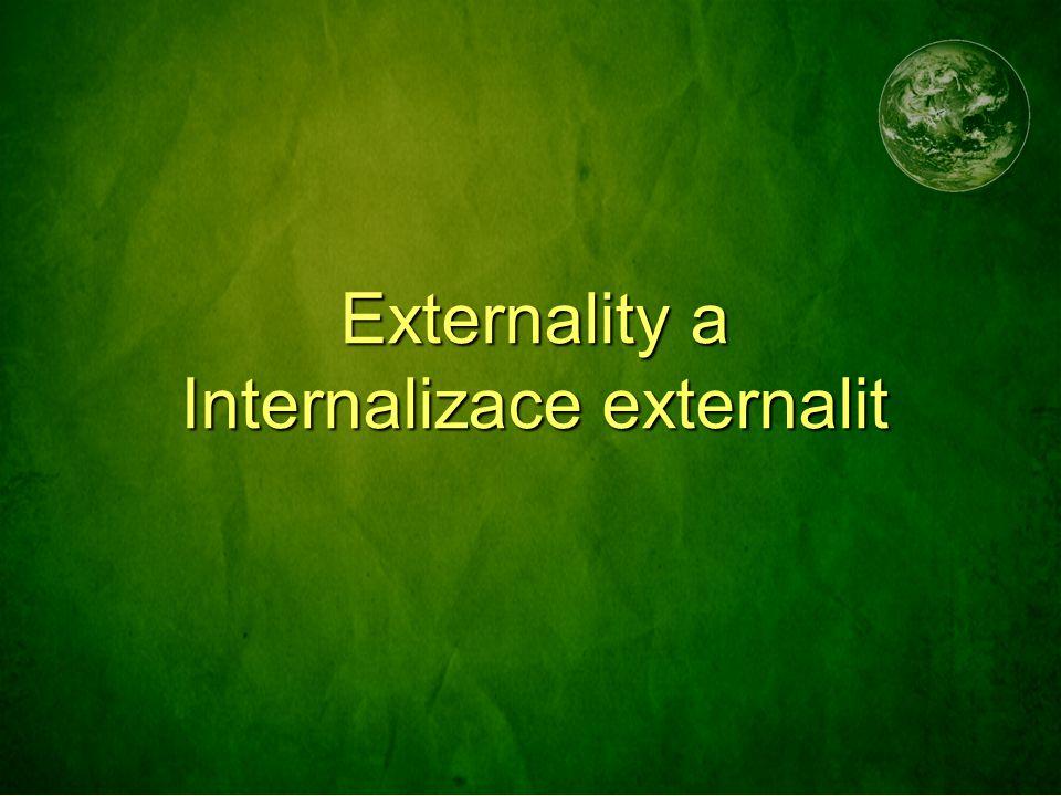 Externality a Internalizace externalit