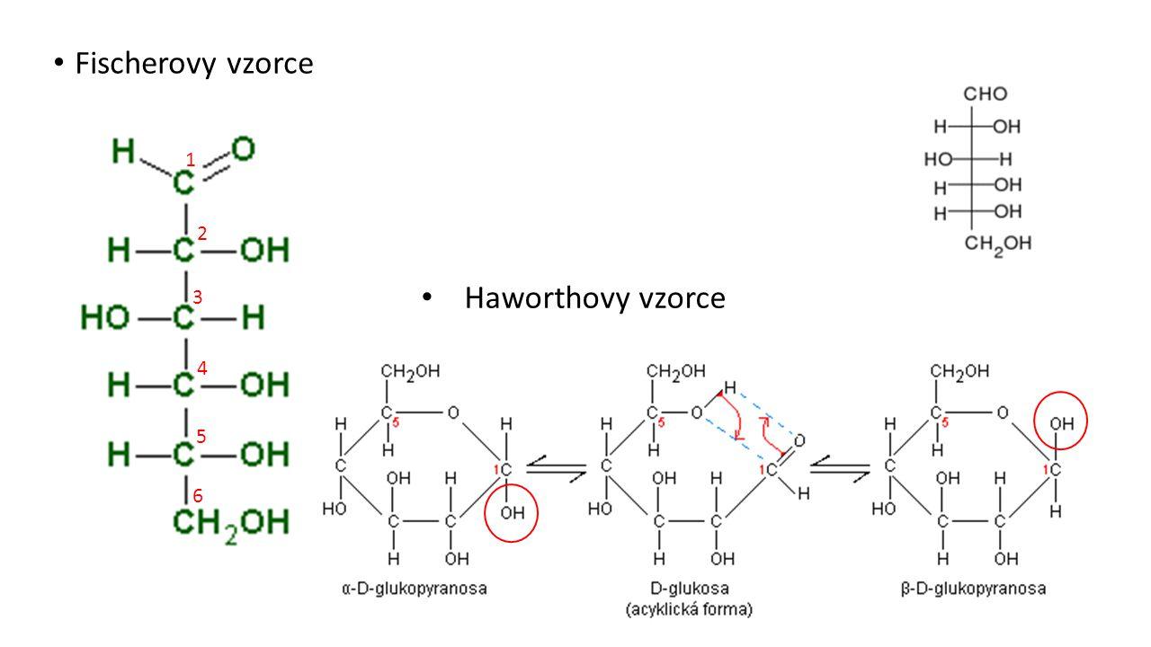 Fischerovy vzorce Haworthovy vzorce 1 2 3 4 5 6