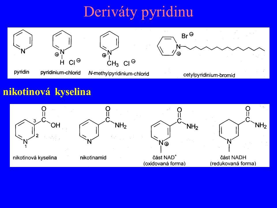 Deriváty pyridinu nikotinová kyselina
