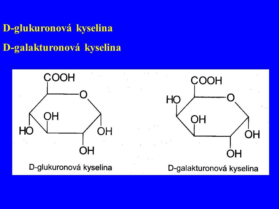 D-glukuronová kyselina D-galakturonová kyselina