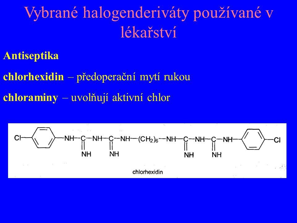Chemoterapeutika chloroxin – na infekční průjmy (Endiaron) lindan – proti zákožce svrabová, vším