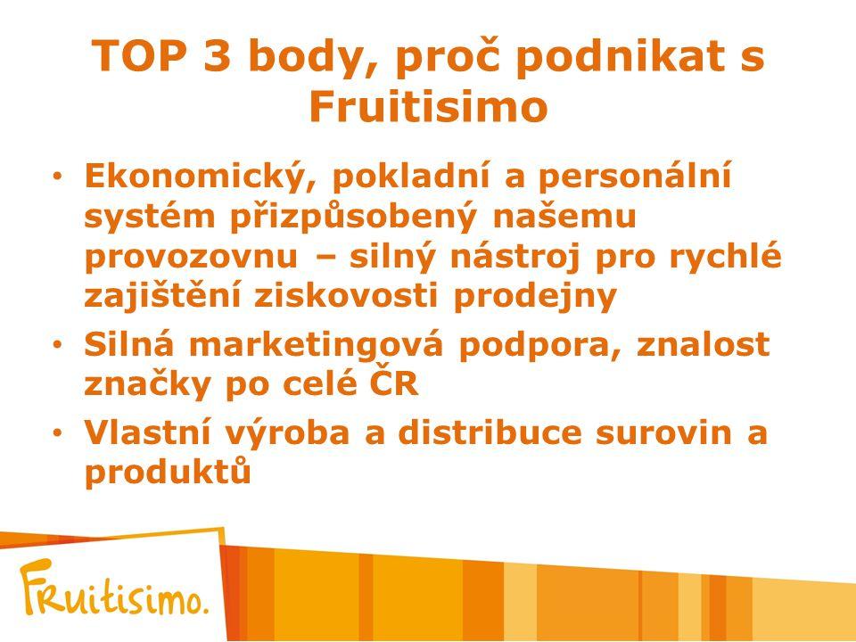TOP 3 body, proč podnikat s Fruitisimo Ekonomický, pokladní a personální systém přizpůsobený našemu provozovnu – silný nástroj pro rychlé zajištění zi
