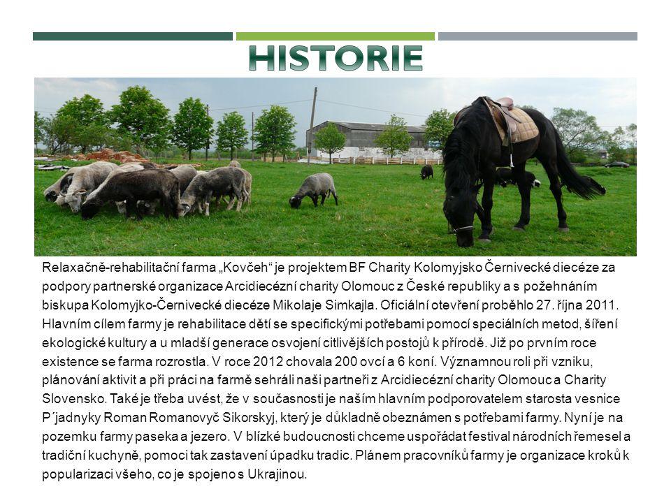 """Relaxačně-rehabilitační farma """"Kovčeh"""" je projektem BF Charity Kolomyjsko Černivecké diecéze za podpory partnerské organizace Arcidiecézní charity Olo"""