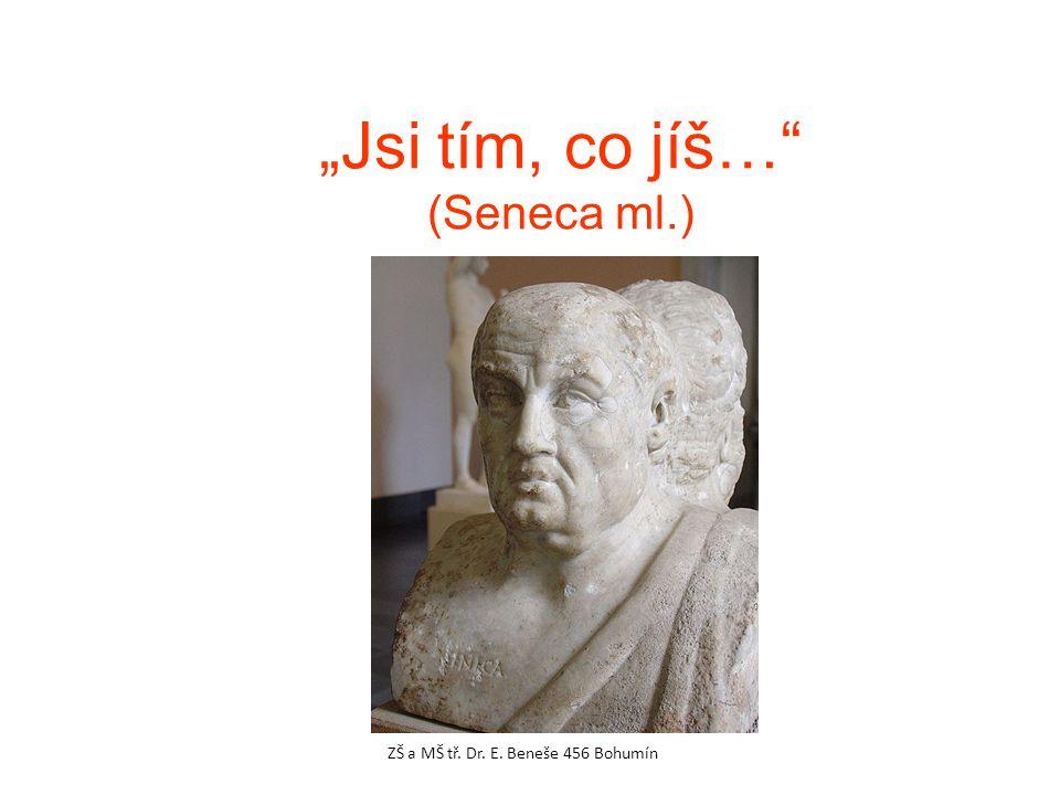 """""""Jsi tím, co jíš…"""" (Seneca ml.) ZŠ a MŠ tř. Dr. E. Beneše 456 Bohumín"""