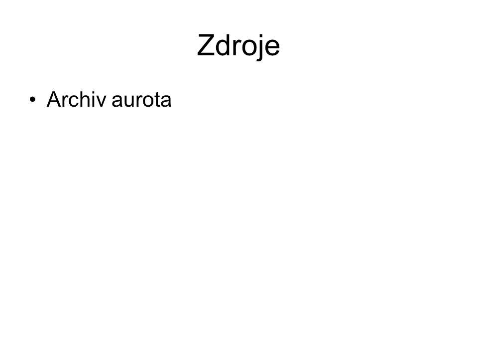 Zdroje Archiv aurota