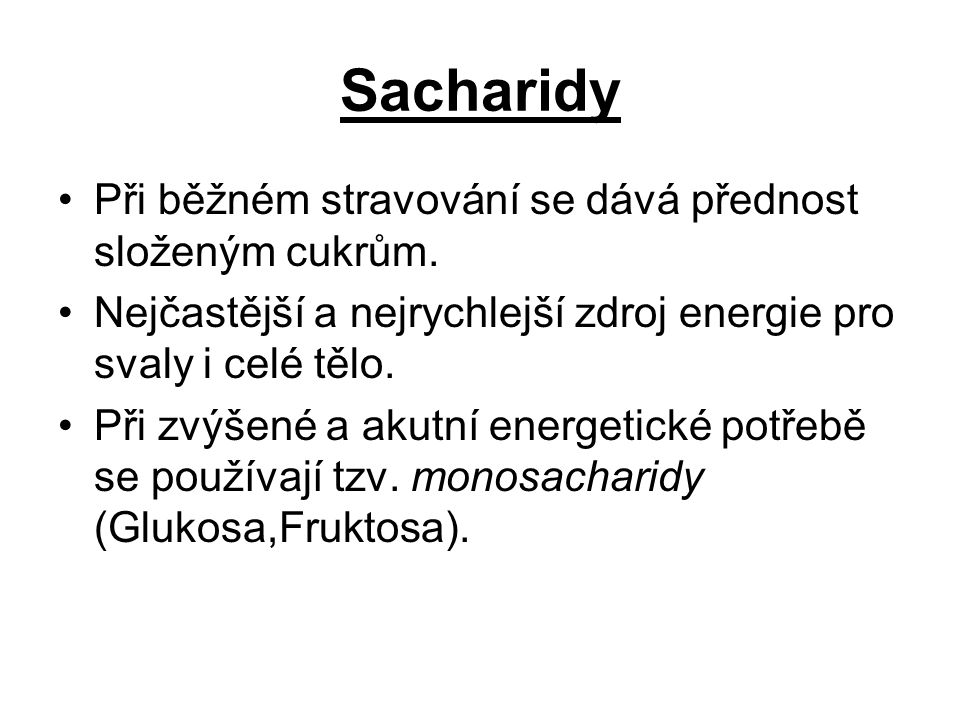 Co to jsou sacharidy.