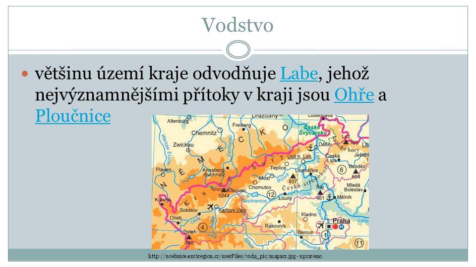 Vodstvo většinu území kraje odvodňuje Labe, jehož nejvýznamnějšími přítoky v kraji jsou Ohře a PloučniceLabeOhře Ploučnice http://ucebnice.enviregion.