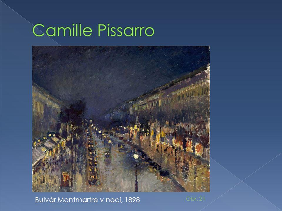 Bulvár Montmartre v noci, 1898 Obr. 21