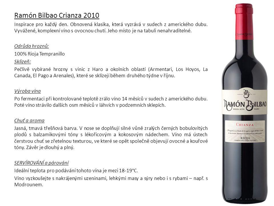 Ramón Bilbao Crianza 2010 Inspirace pro každý den.
