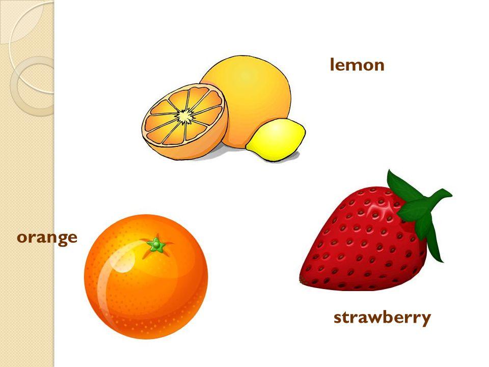 orange strawberry lemon