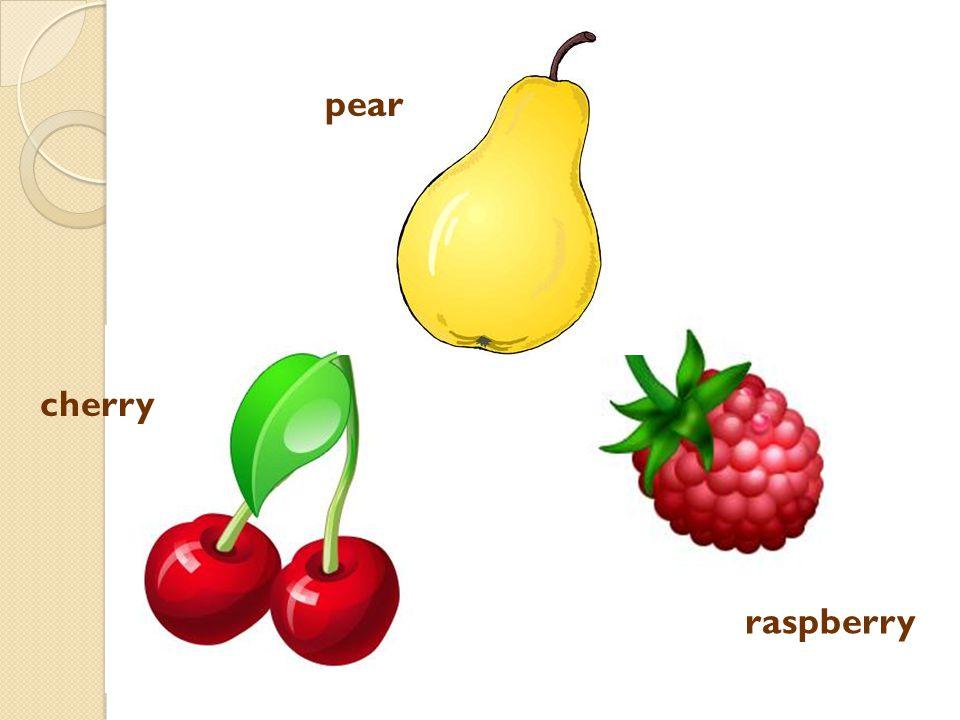 raspberry cherry pear