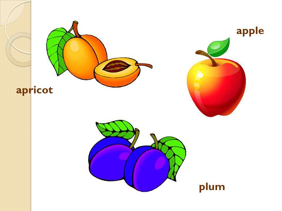 banana strawberry apple lemon orange plum grapes cherry raspberry pear Spoj slovo s obrázkem: