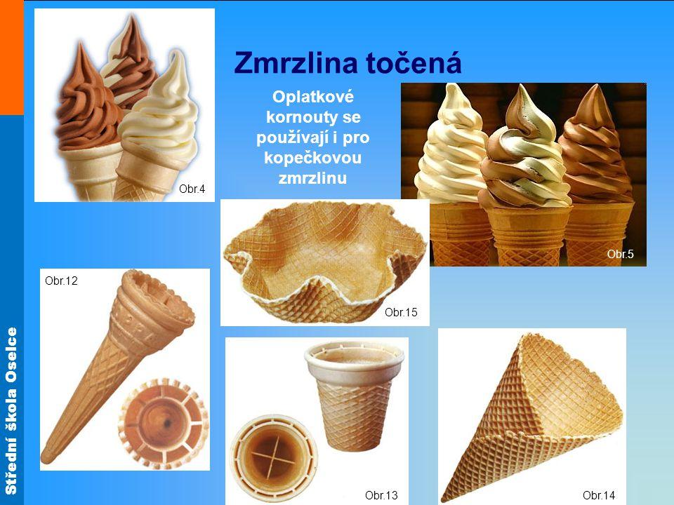 Střední škola Oselce Zmrzlina točená Oplatkové kornouty se používají i pro kopečkovou zmrzlinu Obr.4 Obr.5 Obr.12 Obr.13 Obr.14 Obr.15