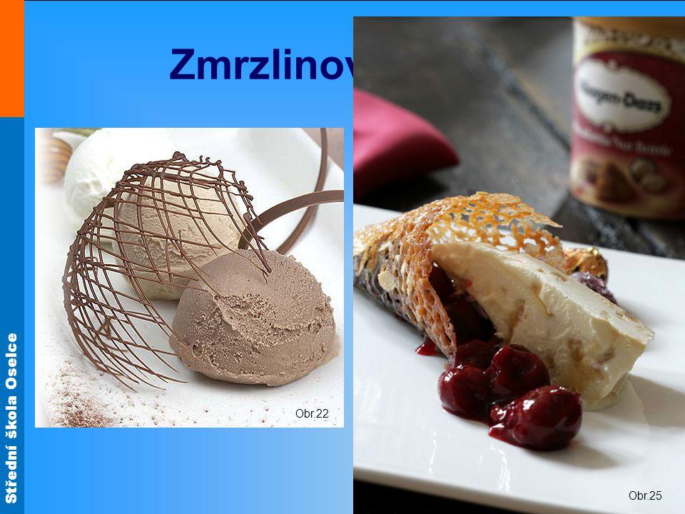 Střední škola Oselce Zmrzlinové dezerty Obr.22 Obr.25