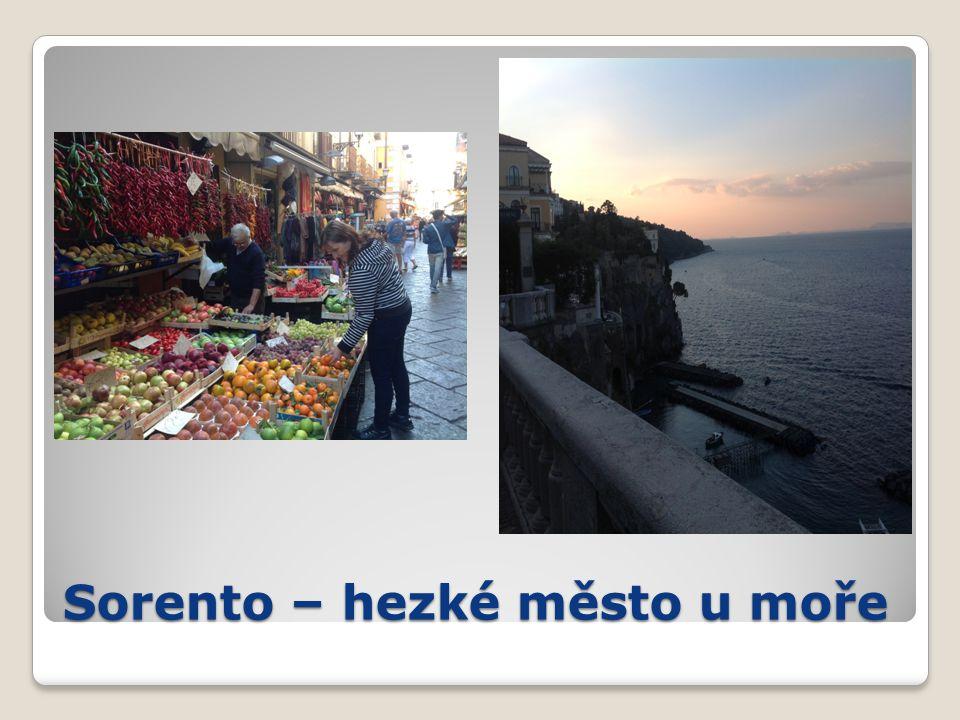 Sorento – hezké město u moře