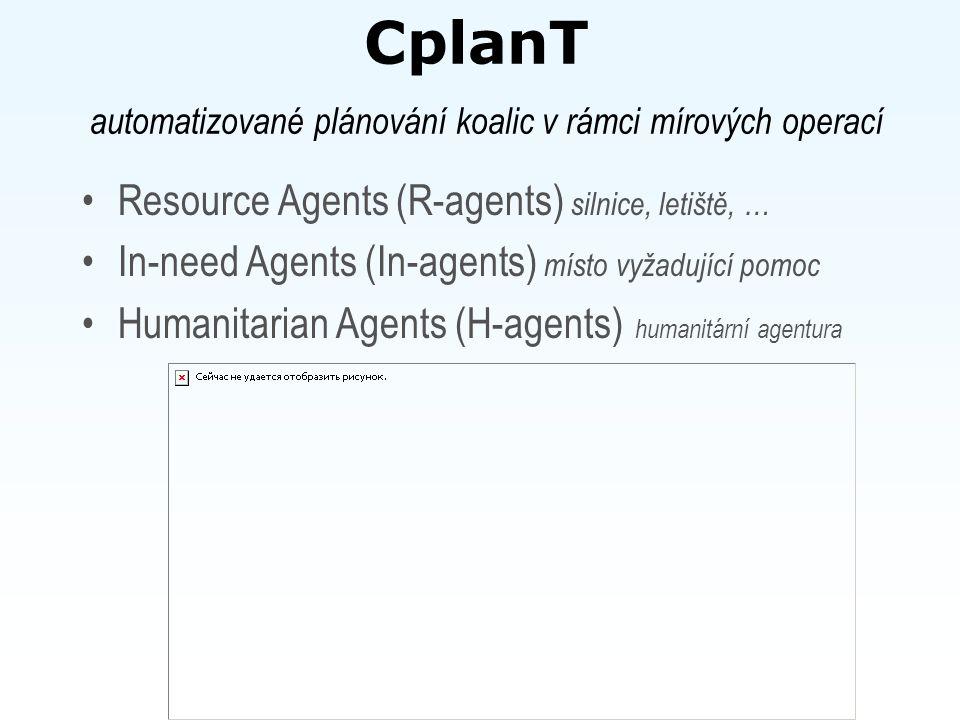 ExPlanTech Plánování projektově orientované výroby (vychází z ProPlanT) Operátor – dekompozice konkrétního výrobního projektu Workshop – rozvrhovací agent DB agent – spojuje ExPlanTech s firemním IS.