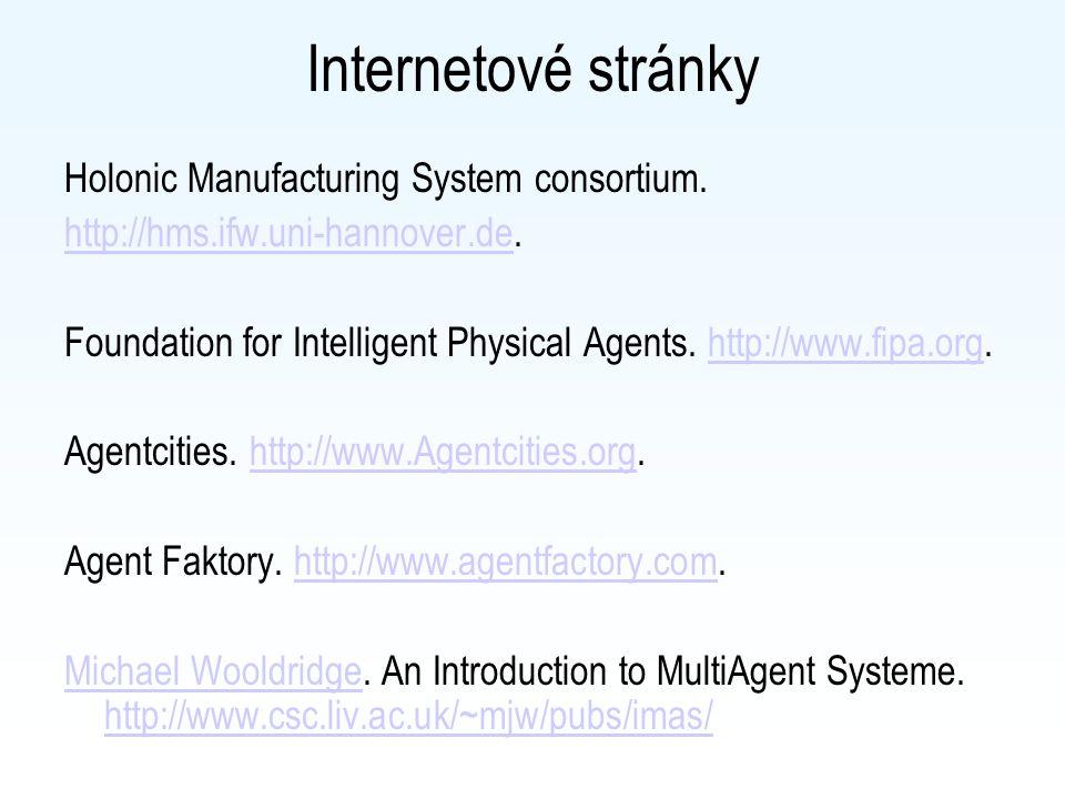 Internetové články Mařík, V. (2003). Principy architektury holonických a multiagentních systémů I In: Sdělovací technika 6 / 2003. http://www.stech.cz