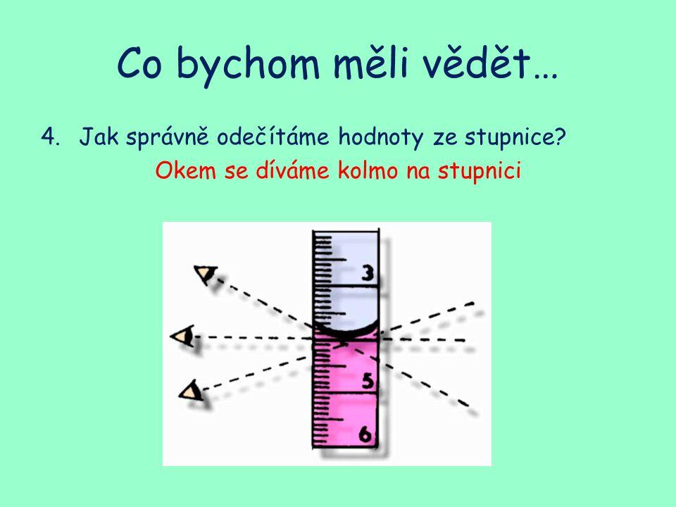 Co bychom měli vědět… 5.Jak určíme měřící rozsah si loměru.