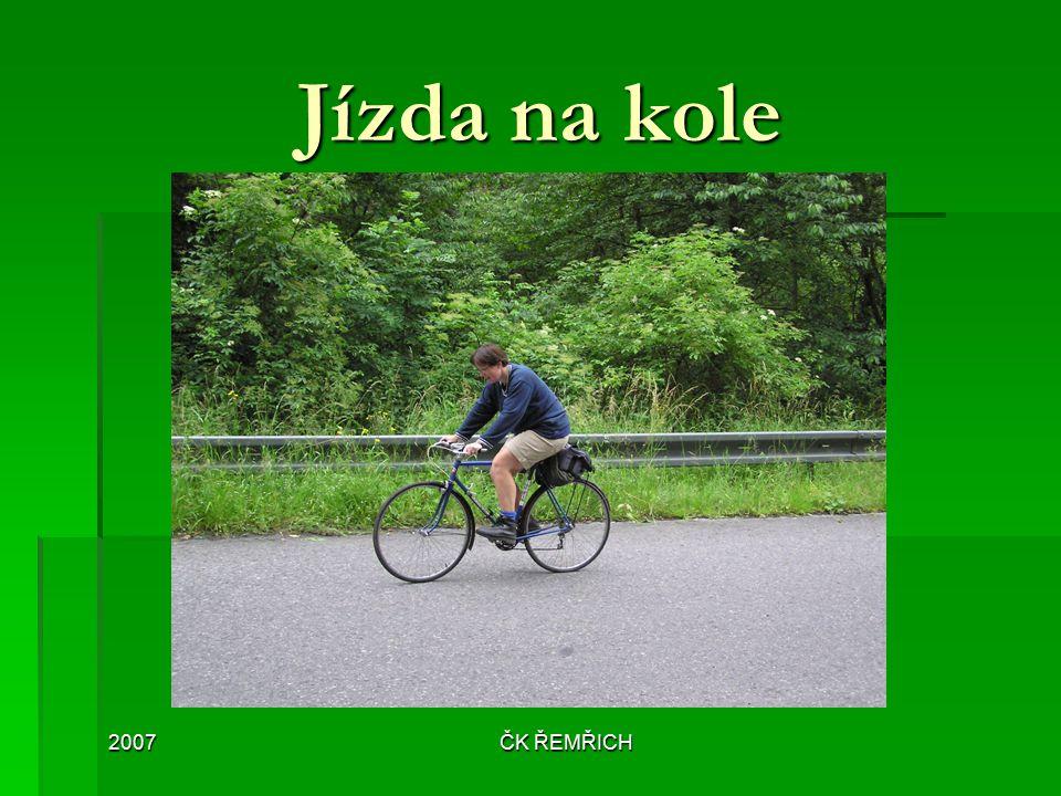 2007ČK ŘEMŘICH Jízda na kole