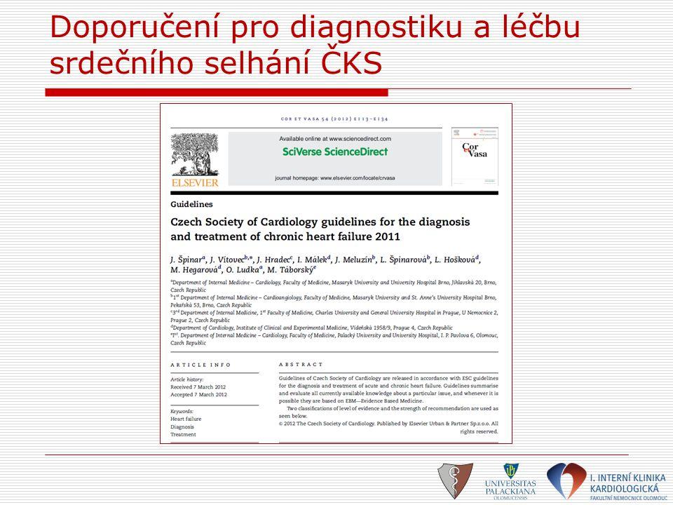 Současné spektrum nefarmakologické léčby srdečního selhání  Chirurgická léčba – CABG, chlopenní náhrady/plastiky  Katetrizační revaskularizace  Kardiostimulace (SRL)  VAD  Eliminační metody (UF, HD)  Paliativní léčba  Srdeční transplantace