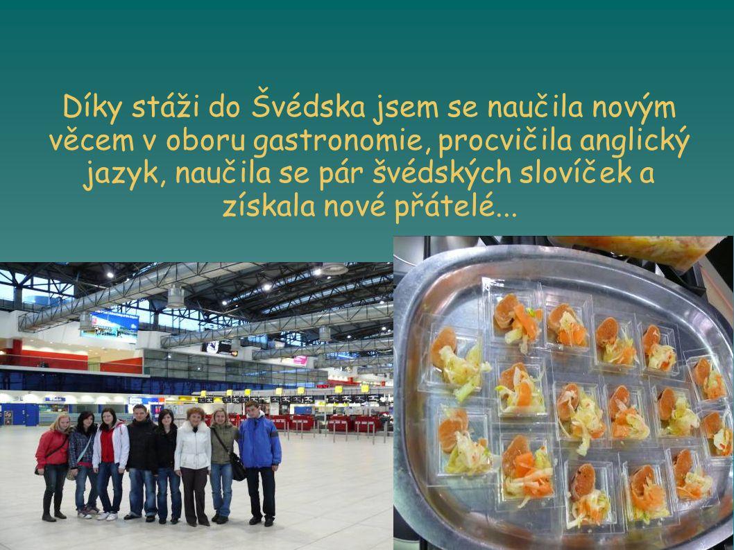 Díky stáži do Švédska jsem se naučila novým věcem v oboru gastronomie, procvičila anglický jazyk, naučila se pár švédských slovíček a získala nové přátelé...