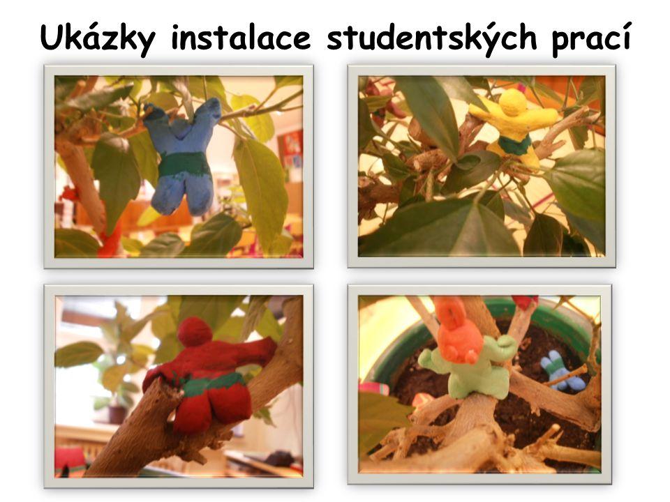 Ukázky instalace studentských prací