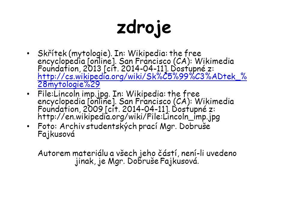 zdroje Skřítek (mytologie). In: Wikipedia: the free encyclopedia [online]. San Francisco (CA): Wikimedia Foundation, 2013 [cit. 2014-04-11]. Dostupné