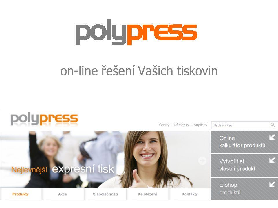 on-line řešení Vašich tiskovin