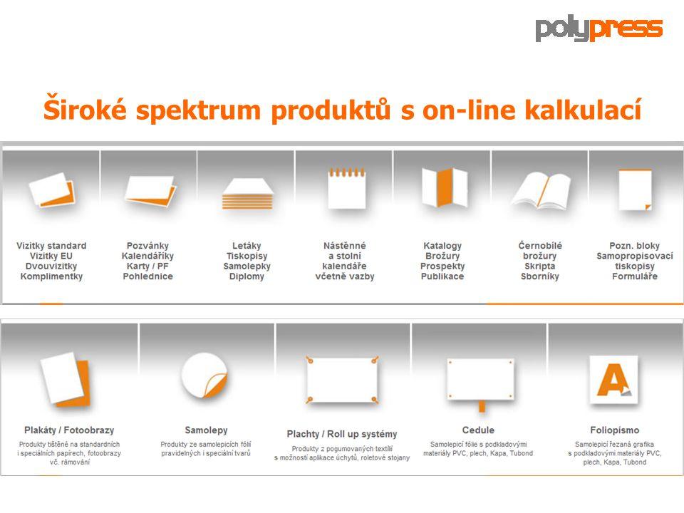 Široké spektrum produktů s on-line kalkulací