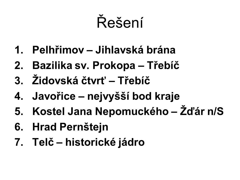 1.Nerostná surovina v obci Dolní Rožínky 2. Jaderná elektrárna 3.