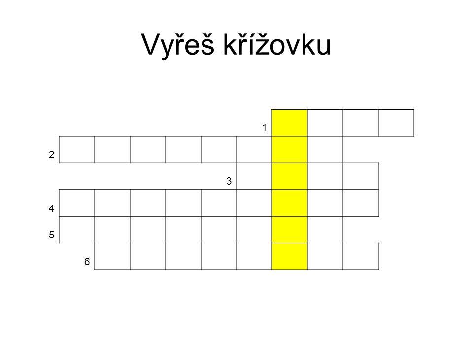 Řešení křížovky 1URAN 2DUKOVANY 3TELČ 4NOVÉMĚSTO 5JAVOŘICE 6BRAMBORY