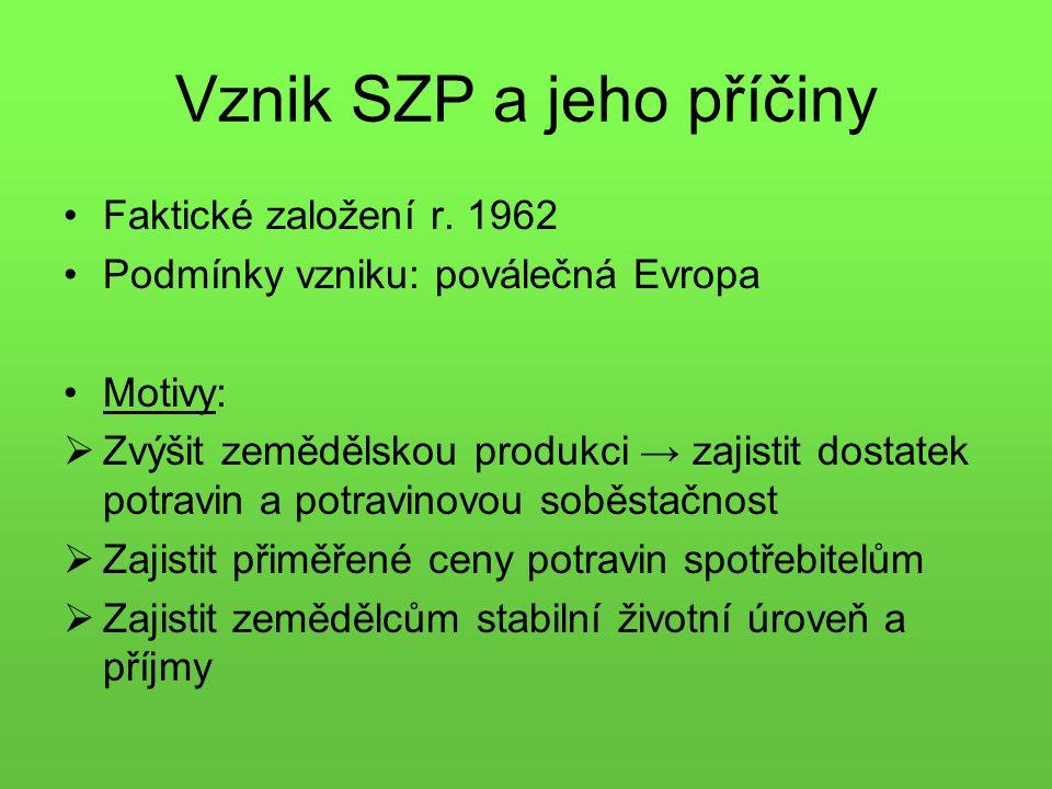 Vznik SZP a jeho příčiny Faktické založení r.
