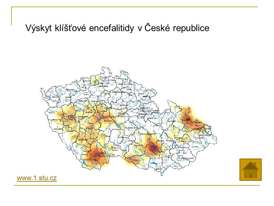 Výskyt klíšťové encefalitidy v České republice www.1.stu.cz