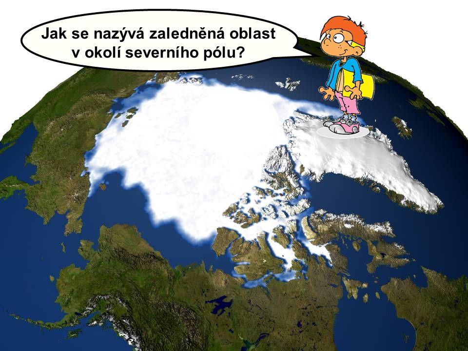 Jak se nazývá zaledněná oblast v okolí severního pólu?