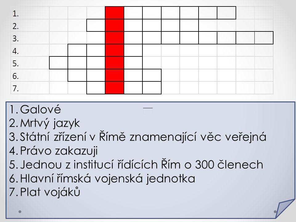 Řešením křížovky je _________, což je _________.1)Kde se nalézá.