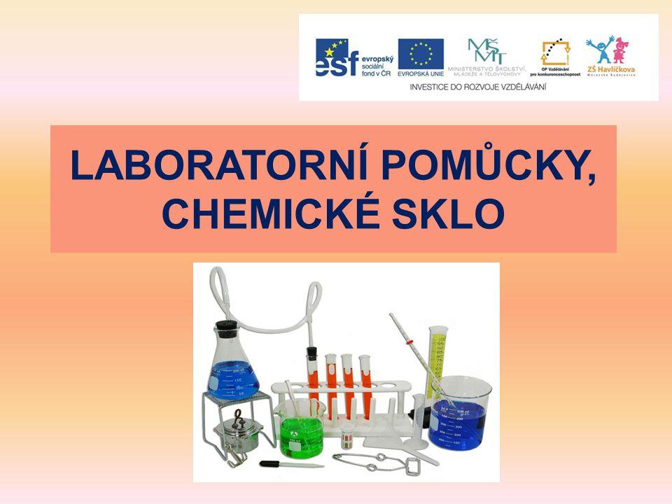 LABORATORNÍ POMŮCKY, CHEMICKÉ SKLO