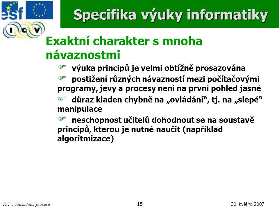 ICT v edukačním procesu1530.
