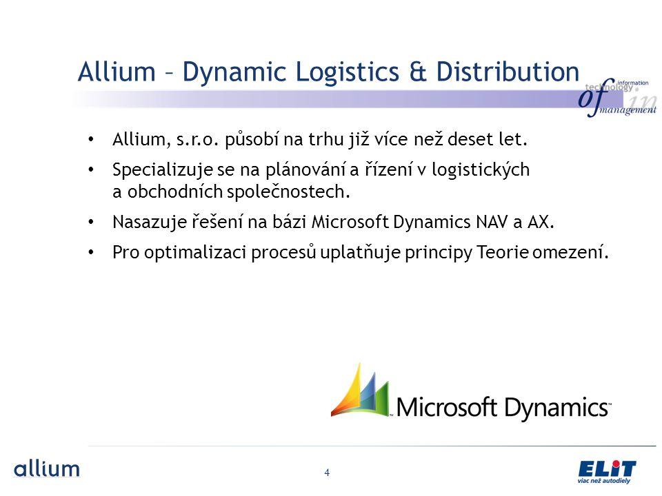 4 Allium – Dynamic Logistics & Distribution Allium, s.r.o.