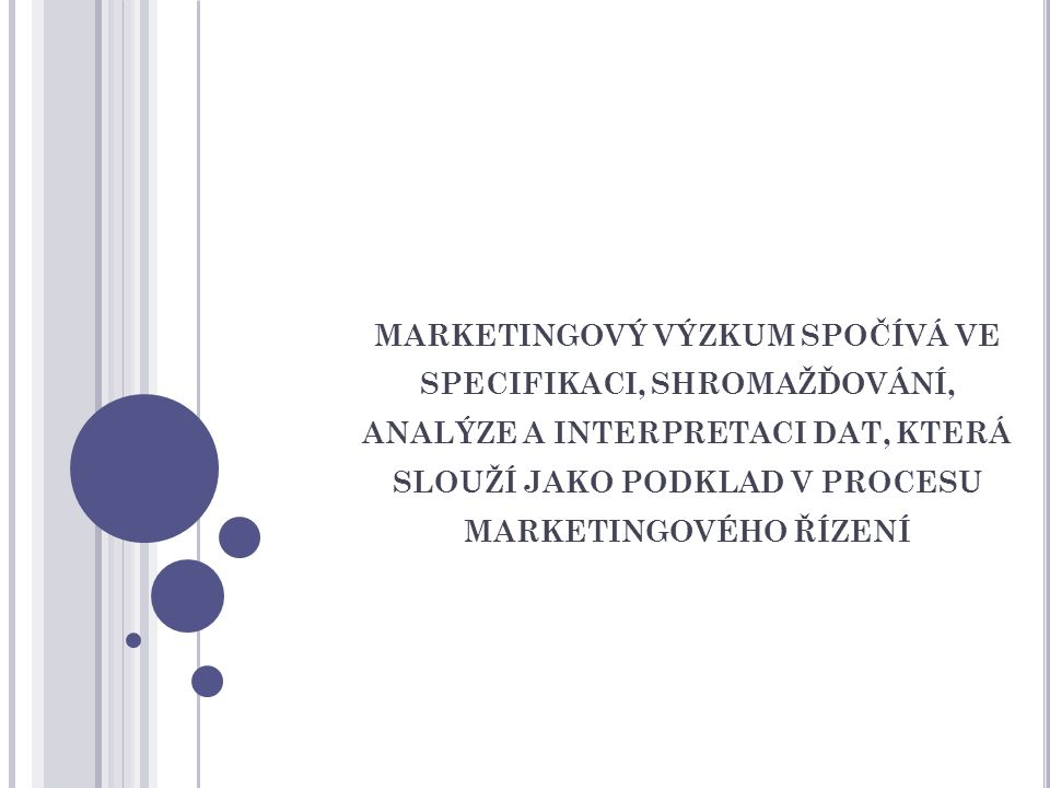 Proces marketingového výzkumu 1.Formulace zadání (Research Brief) 2.