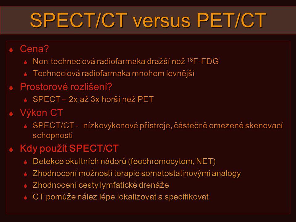 SPECT/CT versus PET/CT  Cena.