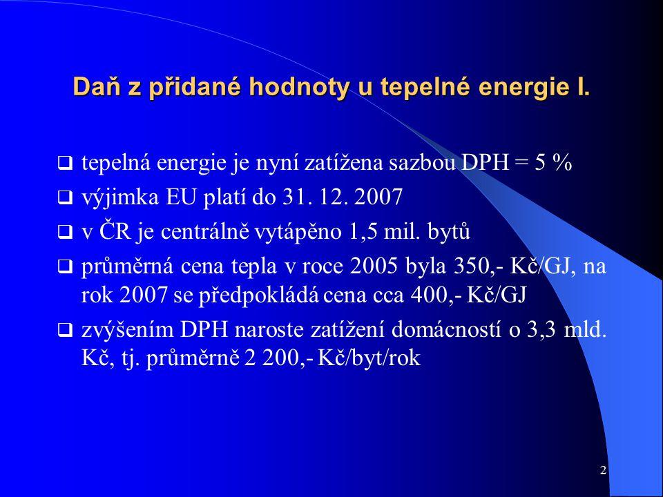 3 Daň z přidané hodnoty u tepelné energie II.
